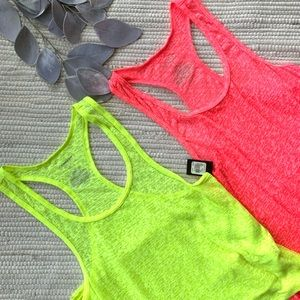 NWT express neon racer back tanks A-004